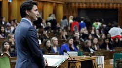 Dozens Of Young Women Turn Their Backs To Trudeau During House