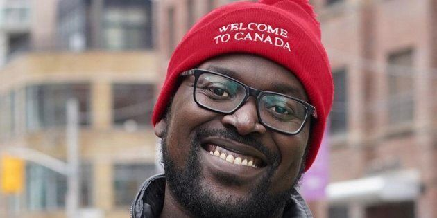 Victor, who immigrated to Canada from Kampala, Uganda, is proud