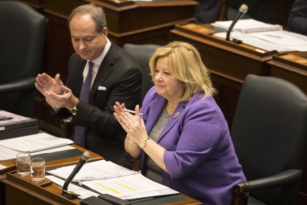 Ontario Education Minister Lisa Thompson attends Question Period at the provincial legislature in Toronto...