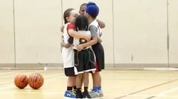5-Year-Olds Hugging On Basketball Court Is A Slam Dunk To The