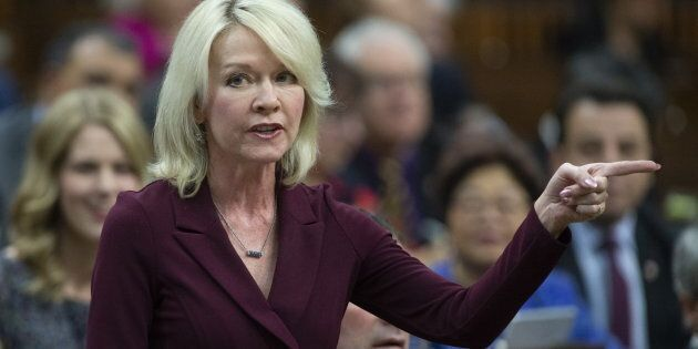 Conservative House Leader Candice Bergen rises during question period on April 1,