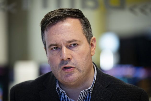 Jason Kenney, leader of the United Conservative Party, speaks during an interview in