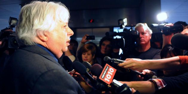 Councillor John Filion speaks to the media at Toronto city hall on Nov. 15,