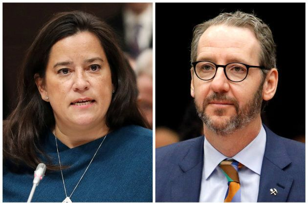 FILE PHOTOS: Liberal MP and former Canadian justice minister Jody Wilson-Raybould and Gerald Butts, who quit last month as Canadian Prime Minister Justin Trudeau's chief aide, are seen in this combination photo testifying before the House of Commons justice committee on Parliament Hill in Ottawa, Ontario, Canada, on February 27, 2019 and on March 6, 2019 respectively. REUTERS/Chris Wattie (L) Patrick Doyle (R)