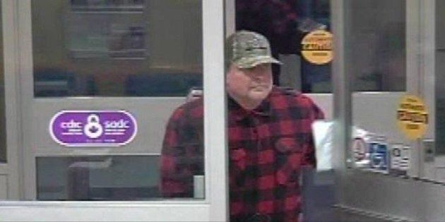 A suspect is shown in a video screengrab from the Medicine Hat Police Service Facebook