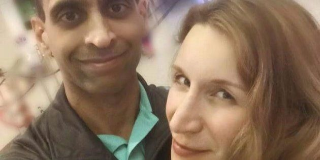 Mohammed Shamji, left, and Elana Fric-Shamji, 40, are shown in a photo from Fric-Shamji's facebook page....