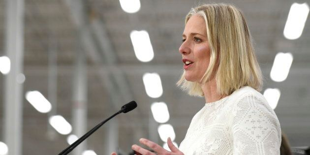 Minister of Environment and Climate Change Catherine McKenna speaks to reporters at a press conference in Ottawa on March 4, 2019.