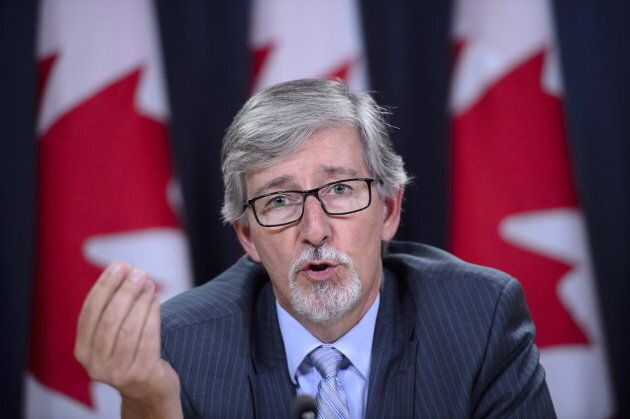 Privacy Commissioner Daniel Therrien holds a news conference in Ottawa on Sept. 27,