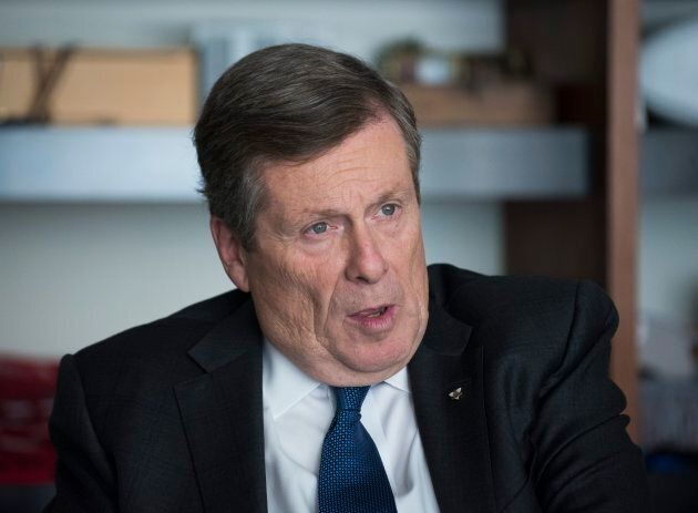 Toronto Mayor John Tory sits in his city hall office on Oct. 23