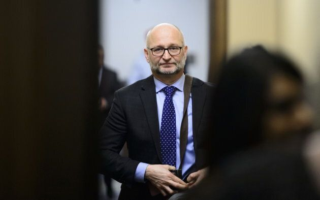 Justice Minister and Attorney General David Lametti leaves a cabinet meeting in the House of Commons on Parliament Hill in Ottawa on April 9, 2019.