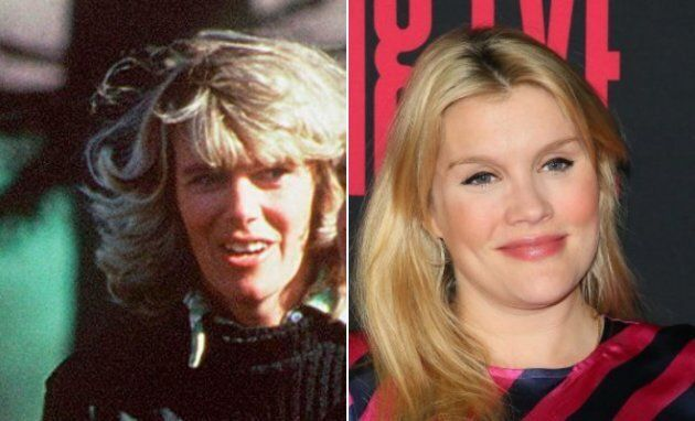 Left: Camilla Parker-Bowles in 1979. Right: Emerald Fennell at the L.A. premiere of