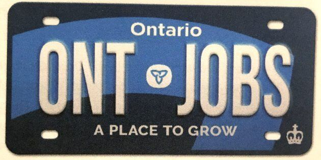 The Ontario government introduced a new design for licence plates in its 2019