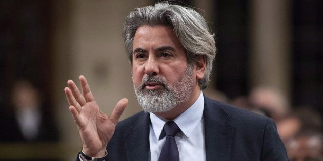 Canadian Heritage and Multiculturalism Minister Pablo Rodriguez speaks in the House of Commons on Nov....