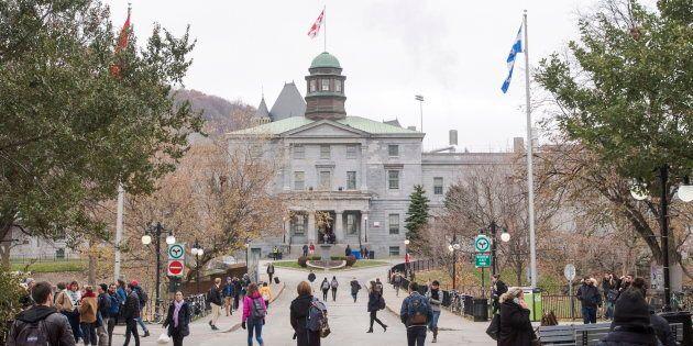 McGill University's campus is seen on Nov. 14, 2017 in
