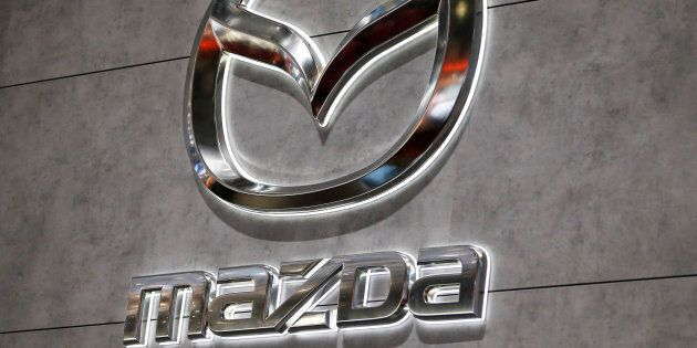 A Mazda logo is displayed at the 89th Geneva International Motor Show in Geneva, Switzerland March 5,...