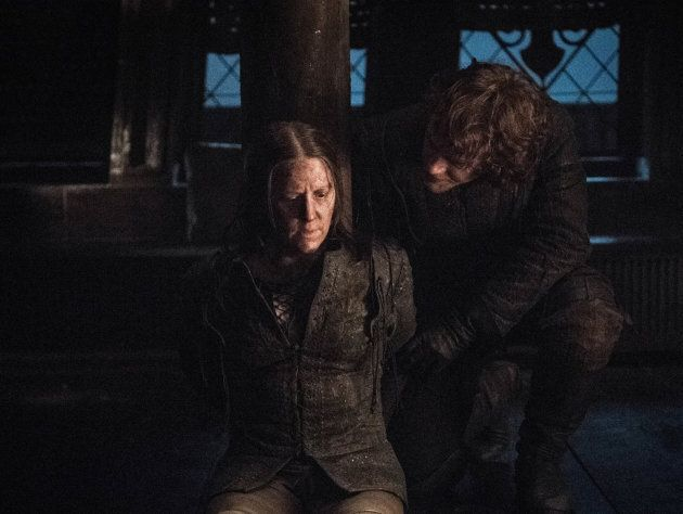 Yara and Theon Greyjoy, not the closest of siblings.
