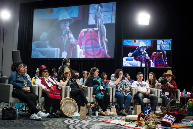Advocates testify at the National Inquiry into Missing and Murdered Indigenous Women and Girls, in Richmond,...