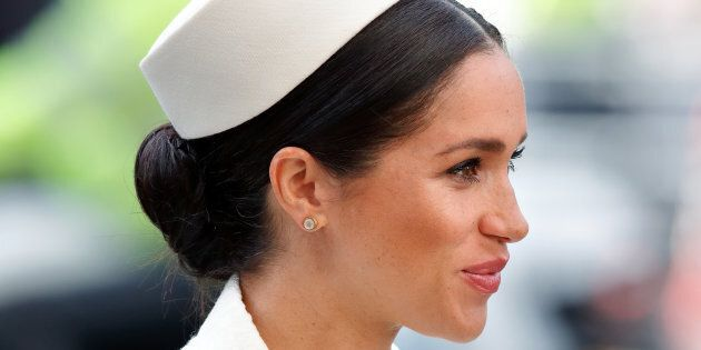 Meghan, Duchess of Sussex attends the 2019 Commonwealth Day service at Westminster Abbey on Mar. 11, 2019 in London, England. The Duchess is due to give birth in late April or early May.
