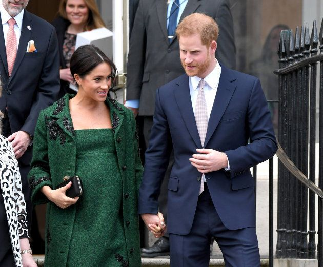Prince Harry, Duke of Sussex and Meghan, Duchess Of Sussex attend a Commonwealth Day Youth Event at Canada House on Mar. 11, 2019 in London.