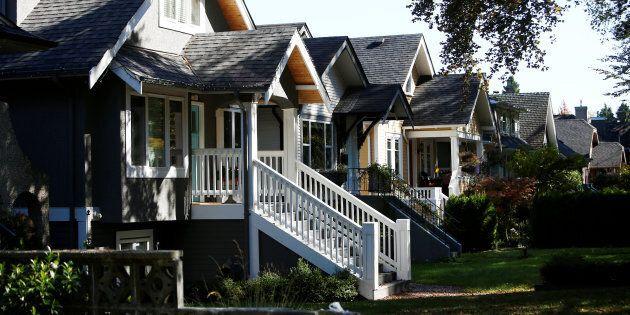 A row of houses in Vancouver's Dunbar neighbourhood, Sept. 22, 2016.