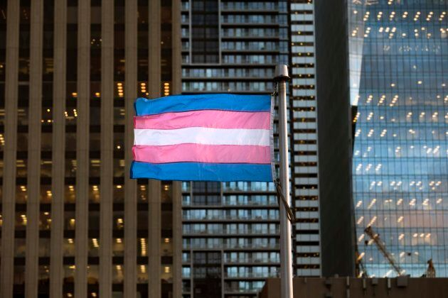 The Transgender community raised the flag for Transgender Day of Remembrance at Toronto City Hall on...