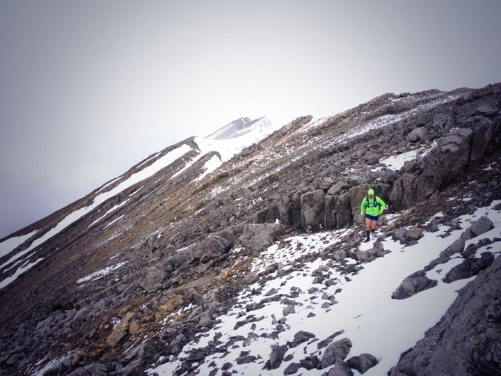Running in Canmore, Alta. in 2014.