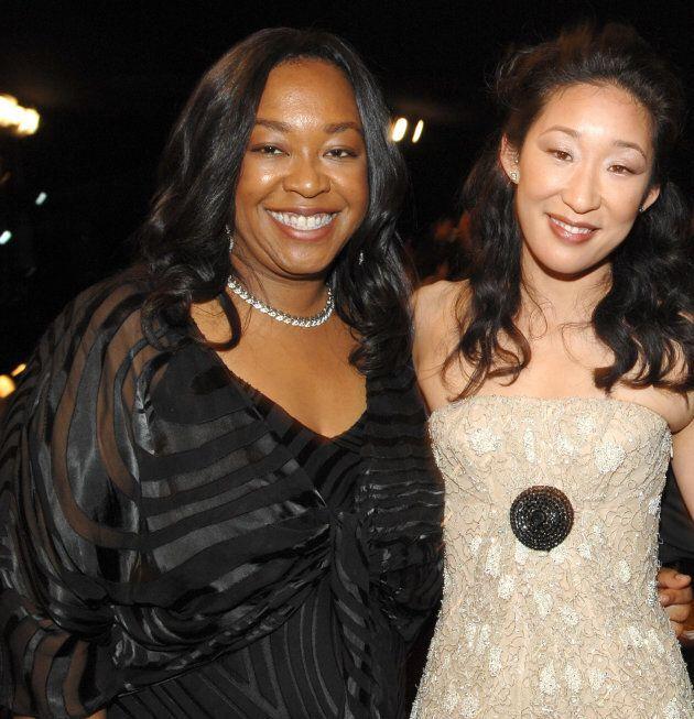 Shonda Rhimes and Sandra Oh.