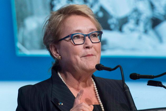 Pauline Marois in Montreal, Oct. 20,