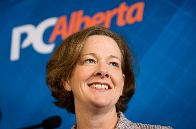Alison Redford in Calgary, Alta., April 11,