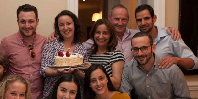 Or Har-Gil's Passover/birthday celebrations with her family three years ago.