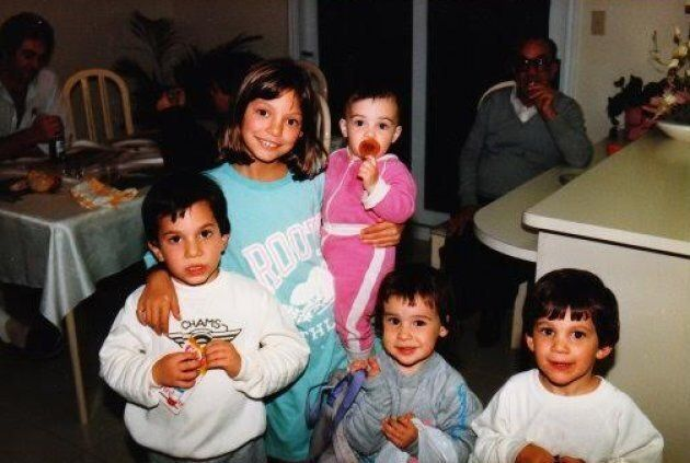 Or Har-Gil with her cousins shortly after arriving in Canada.