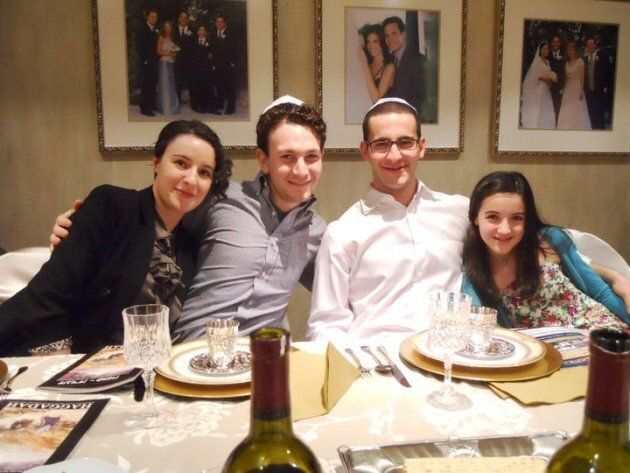Or Har-Gil celebrating Passover with her husband and siblings.