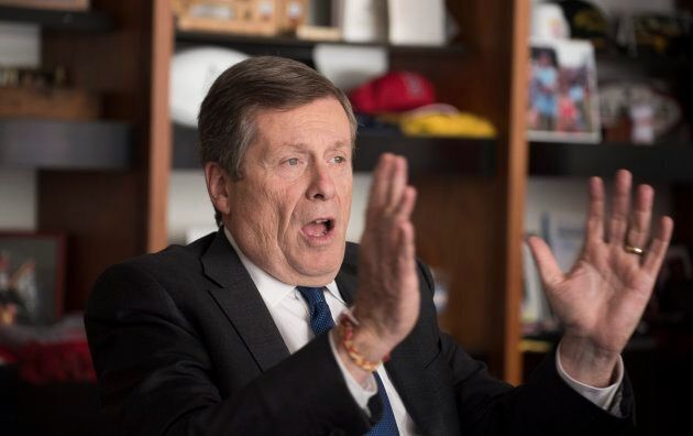 John Tory sits down for an interview with the Globe and Mail in his city hall office, on Oct. 23