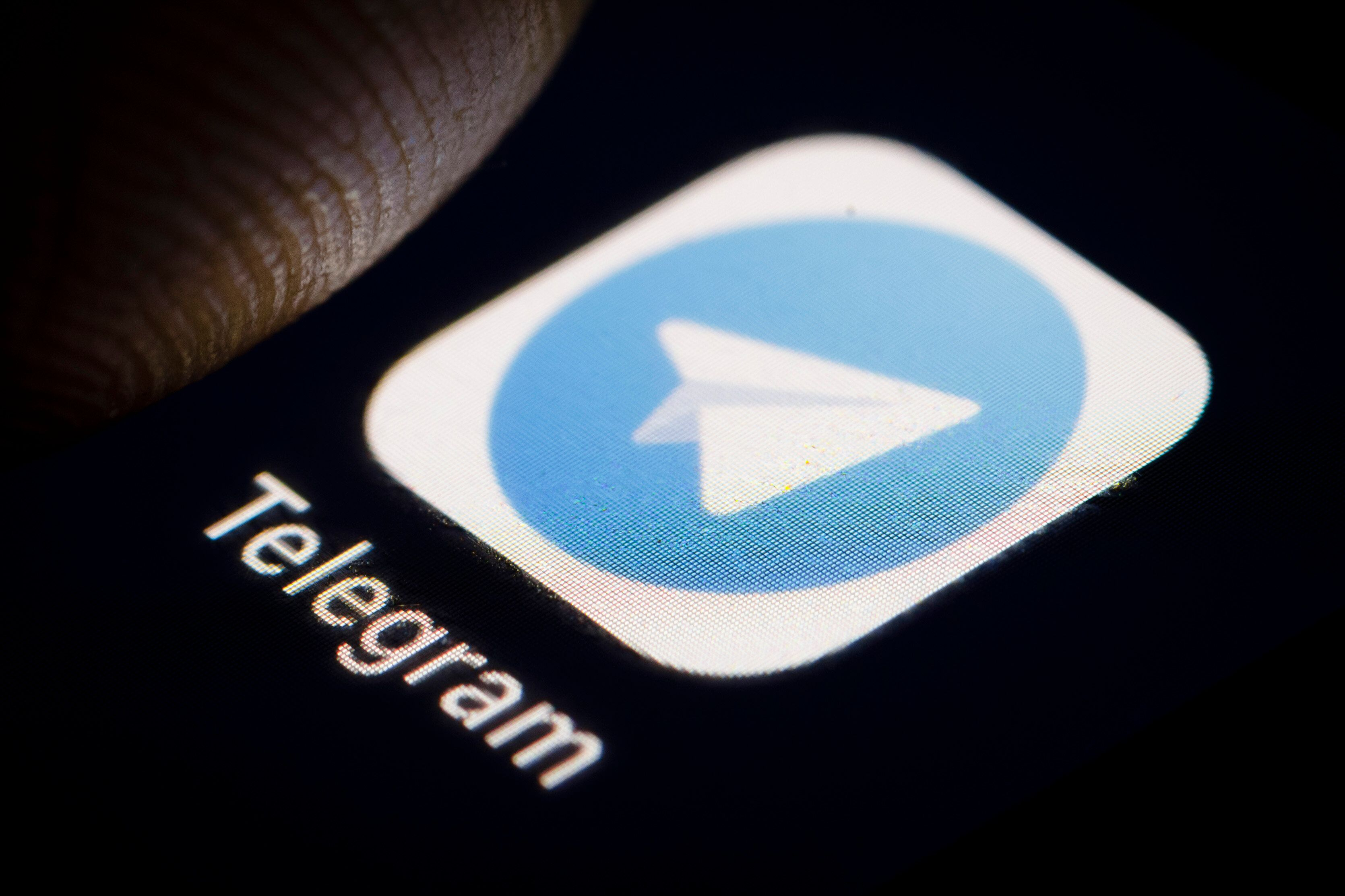 BERLIN, GERMANY - DECEMBER 14: The Logo of cloud-based instant messaging and voice over IP service Telegram is displayed on a smartphone on December 14, 2018 in Berlin, Germany. (Photo by Thomas Trutschel/Photothek via Getty Images)