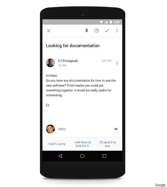 Google 'Smart Reply' Writes Artificially Intelligent Responses To Your
