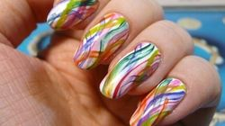 This Rainbow Nail Art Design Is Pretty Much