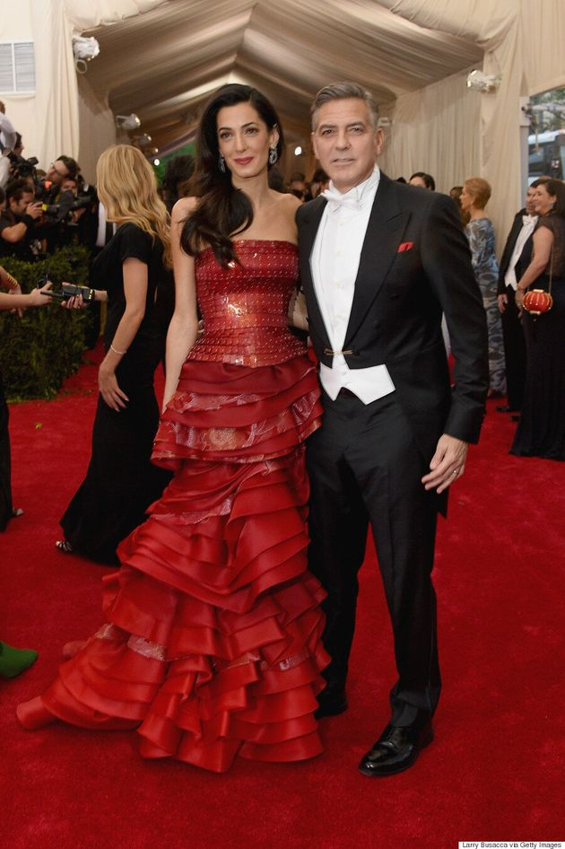 Amal Clooney's Met Gala 2015 Dress Is A Red-Tiered