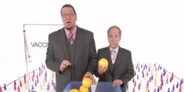 Penn And Teller Video: Duo Solves Vaccination Debate In 90