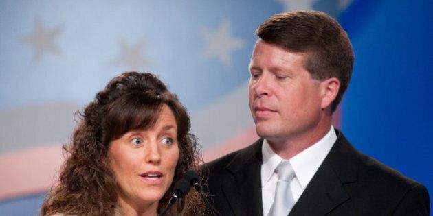 WASHINGTON - SEPTEMBER 17: Michelle Duggar and Jim Bob Duggar speak during the 5th Annual Values Voter...