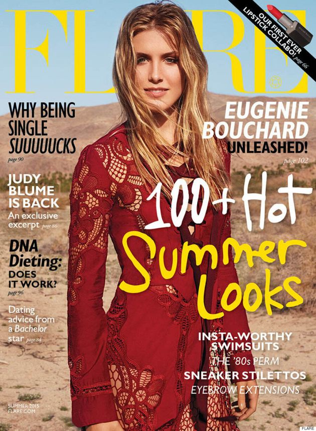 Eugenie Bouchard Goes Desert-Chic For Flare