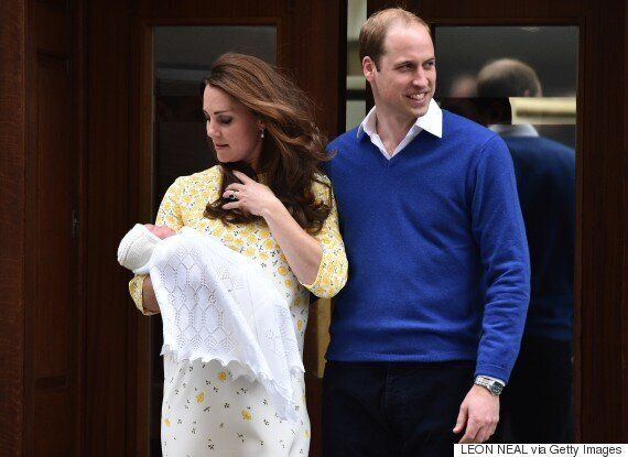 Kate Middleton And Prince William Leave The Hospital With The Royal