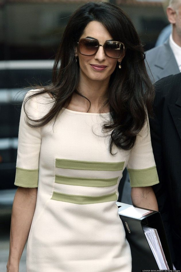 Amal Clooney Goes Back To Work In Chic