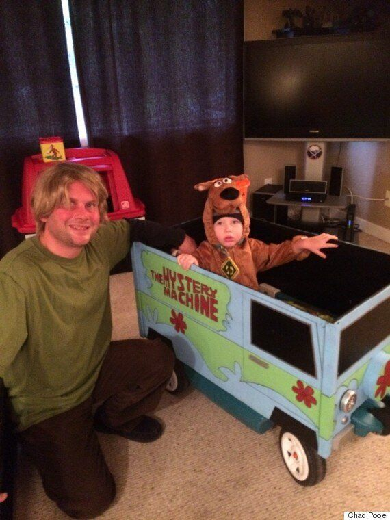 Chad Poole, Sidney, B.C. Dad, Makes Homemade Costumes For Son Year After