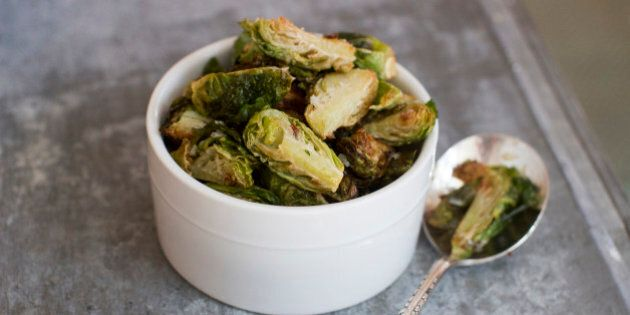 This Sept. 22, 2014 photo shows fried Brussels sprouts in Concord, N.H. Chic menus at restaurants around...