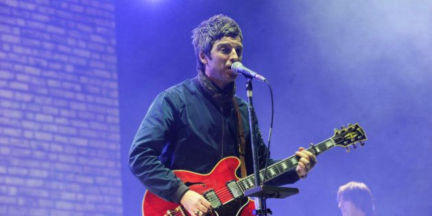 Photo by: KGC-138/STAR MAX/IPx 3/10/15 Noel Gallagher of Noel Gallagher's High Flying Birds in concert at the O2 Arena. (London, England, UK)