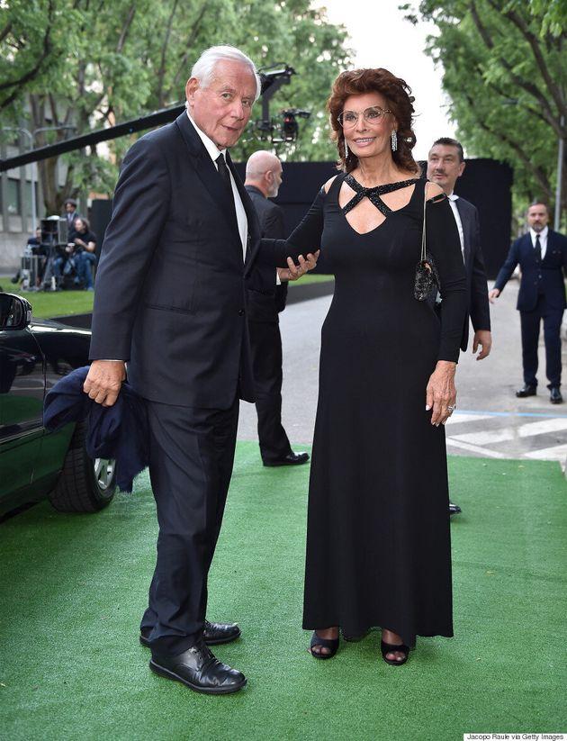 Sophia Loren Stuns At Giorgio Armani's 40th Anniversary