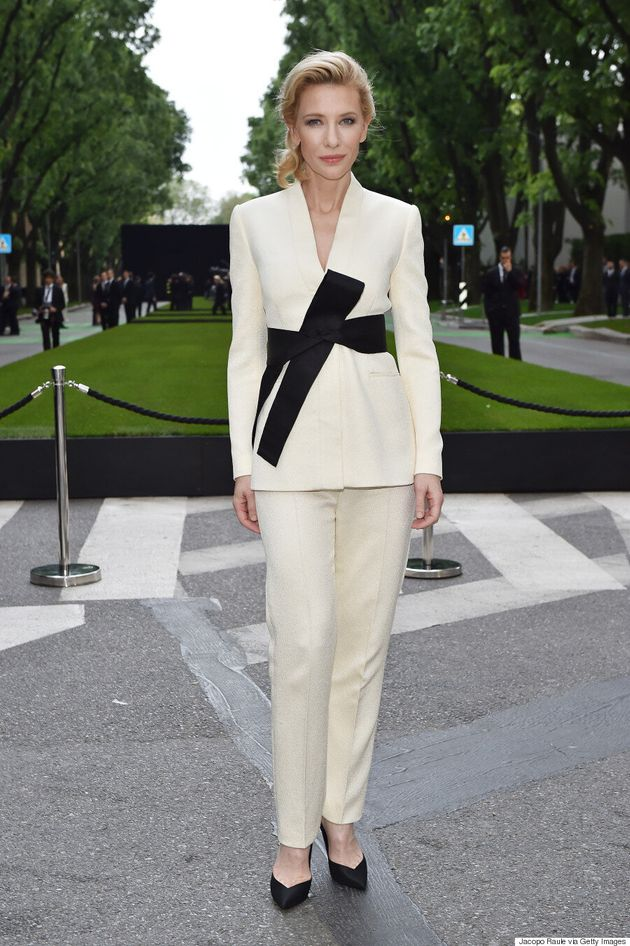 Cate Blanchett Wows In Chic Pant Suit At Armani Anniversary