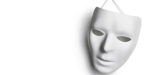 White mask with copy space