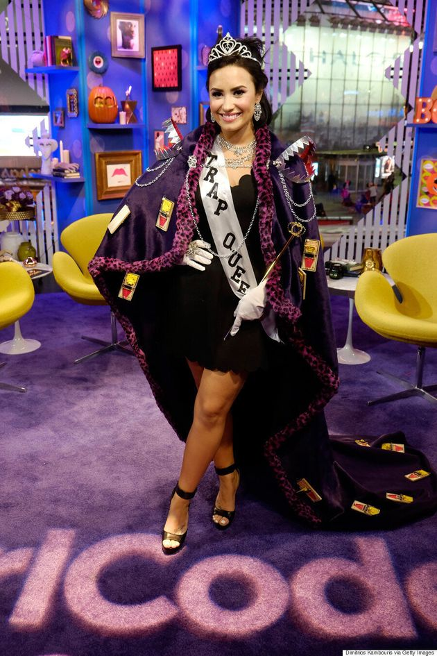 Demi Lovato Dresses Up As A 'Trap Queen' For Halloween And It's The