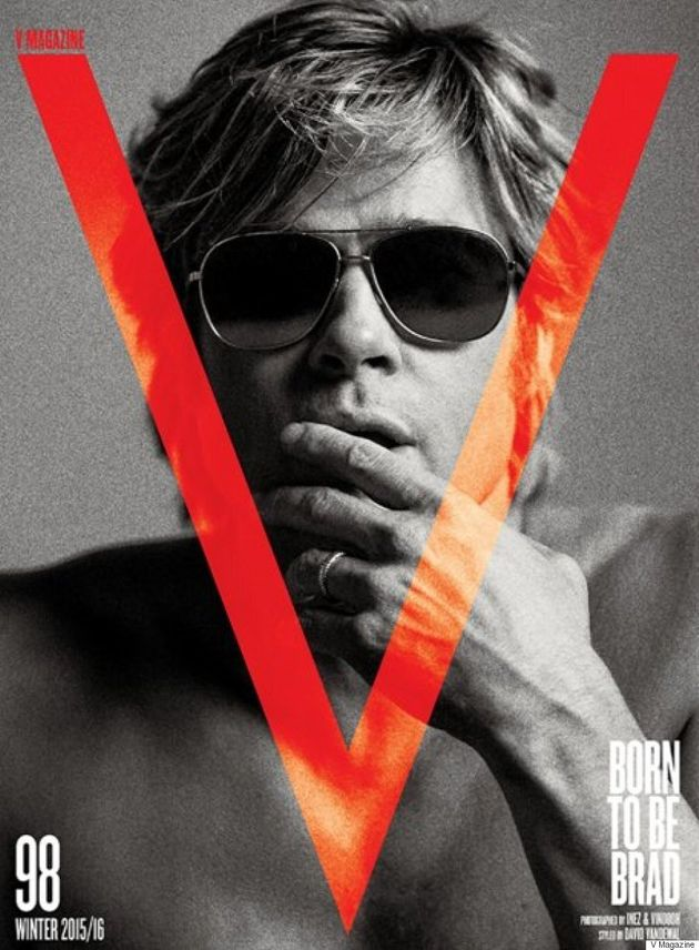 Brad Pitt's V Magazine Cover Is Giving Us Serious '90s